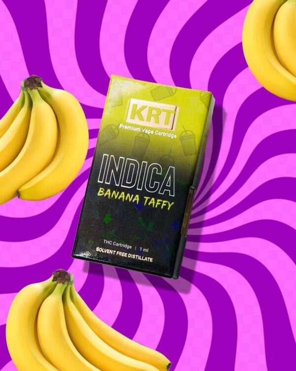 Krt Banana Taffy, krt carts,krt vapes, krtcarts website, buy krt carts online